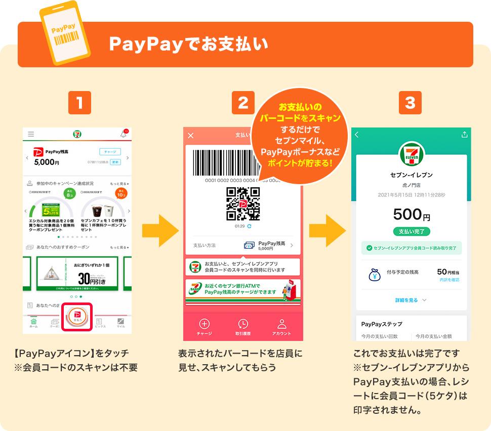 セブンイレブン アプリ 支払い